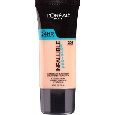 Face Makeup: L'Oreal Paris Infallible Pro-Glow Foundation