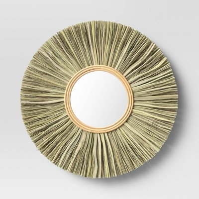 "24"" Rattan Wall Mirror - Threshold™"