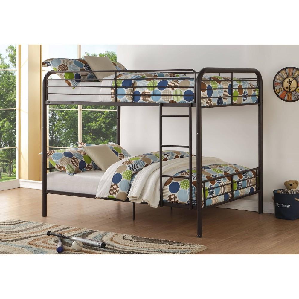 Full Full Bristol Kids 39 Bunk Bed Dark Brown Acme Furniture