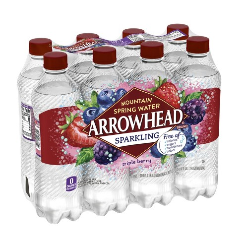 Arrowhead Triple Berry Flavored Sparkling Water - 8pk/16.9 fl oz Bottles - image 1 of 10