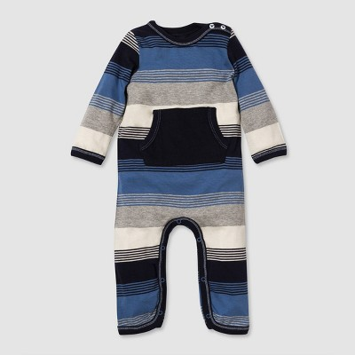 Burt's Bees Baby® Baby Boys' Organic Cotton Stripe Jumpsuit - Blue 0-3M