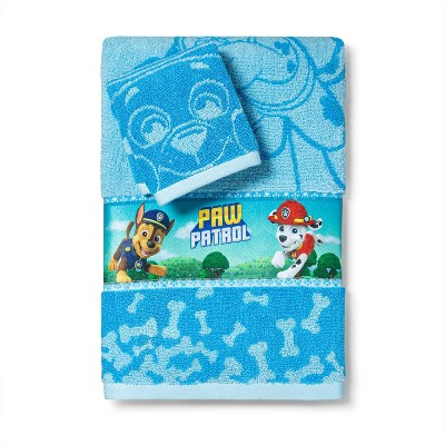2pc PAW Patrol Power Leaps Bath Towel and Washcloth Set