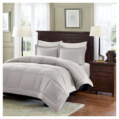 Belford Microcell Down Alternative Comforter Set (King/California King)Gray - 3pc