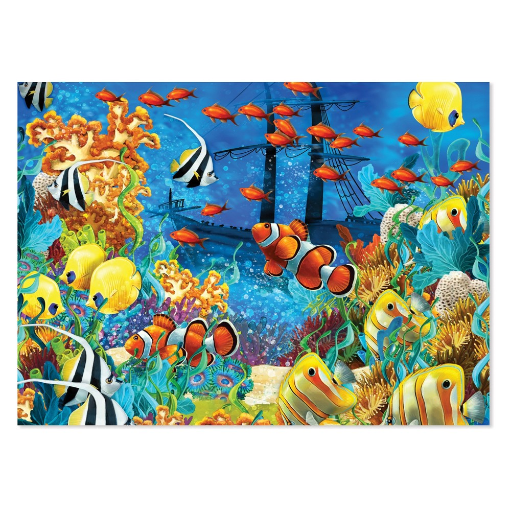Melissa & Doug 1500pc Shipwreck Reef and Tropical Fish Jigsaw Puzzle