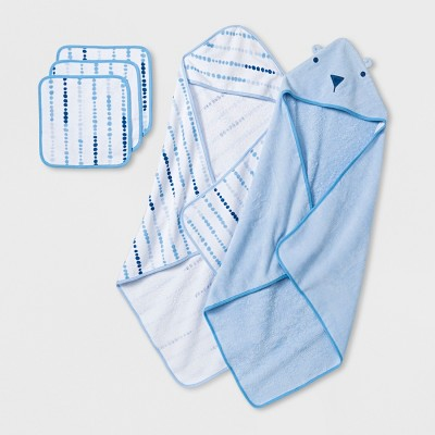 Baby Boys' Towel and Washcloth Set - Cloud Island™ Blue One Size