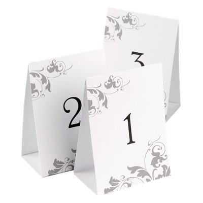 40ct Wedding Table Number Tents