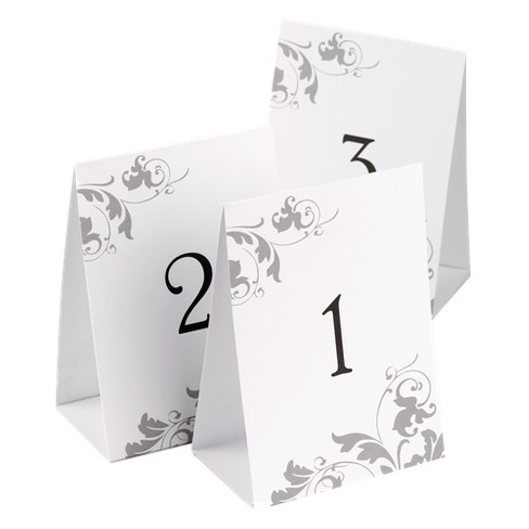 Ct Wedding Table Number Tents Target - Wedding table tents