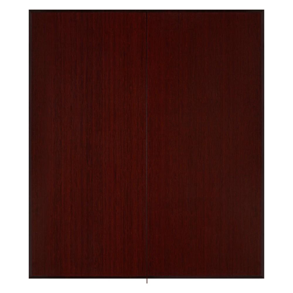 "Image of ""3'5""""x4' Bamboo Tri-Fold Plush Chairmat with No Lip Brown - Anji Mountain, Size: 3'5""""X4'"""