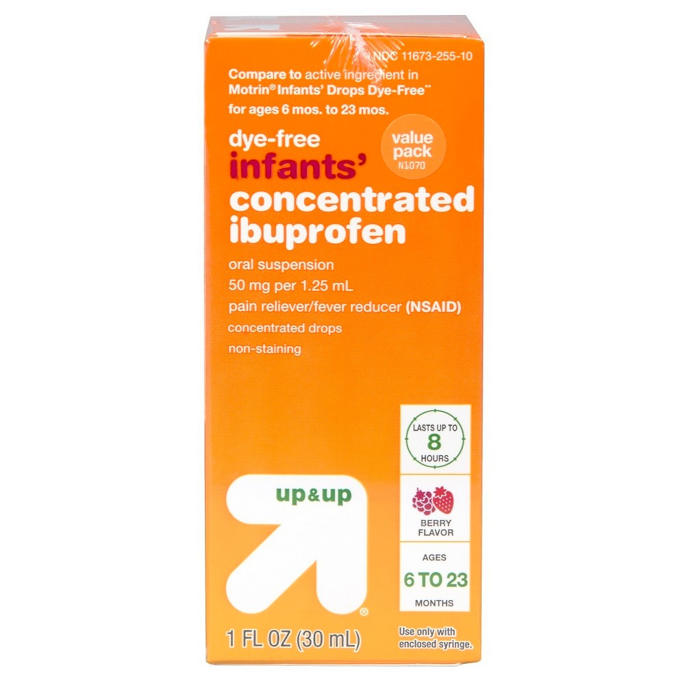 Children's Ibuprofen Berry 2pk (Compare to Motrin Infants' Drop Dye-Free) 1oz - Up&Up