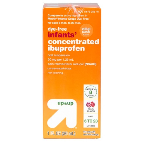 Children's Ibuprofen Berry 2pk (Compare to Motrin® Infants' Drop Dye-Free) 1oz - Up&Up™ - image 1 of 3