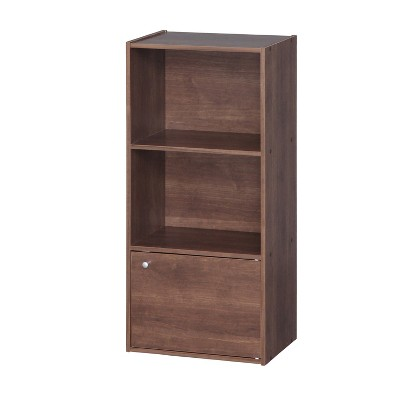IRIS 3 Tier Shelf with Door Brown
