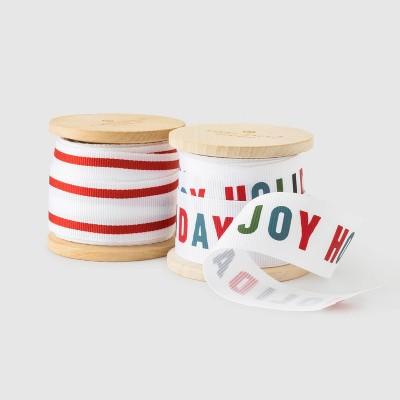 Red Colorful Grosgrain Ribbon Set of 2 - Sugar Paper™