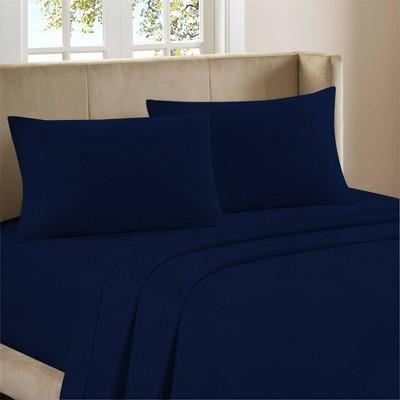 King Organic Cotton Percale Deep Pocket Sheet Set Navy - Purity Home
