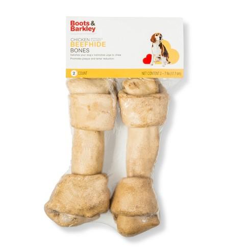 7'' Chicken Flavored Beefhide Bone Rawhide Dog Treats - 2ct - Boots & Barkley™ - image 1 of 2