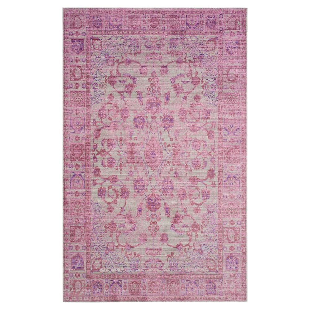 Pink/Multi Solid Loomed Area Rug - (5'X8') - Safavieh