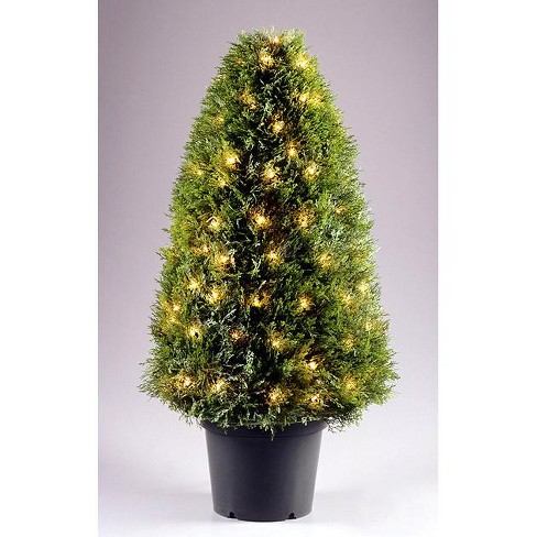 """National Tree 36"""" Prelit Upright Juniper Potted Artificial Tree Clear Lights - image 1 of 2"""