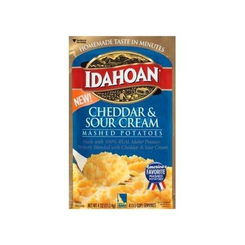 Idahoan Cheddar & Sour Cream Mashed Potatoes - 4oz - image 1 of 1