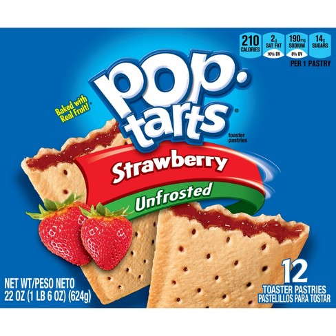 Pop-Tarts Unfrosted Strawberry Pastries