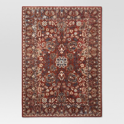 Red Floral Tufted Area Rug 5'X7' - Threshold™