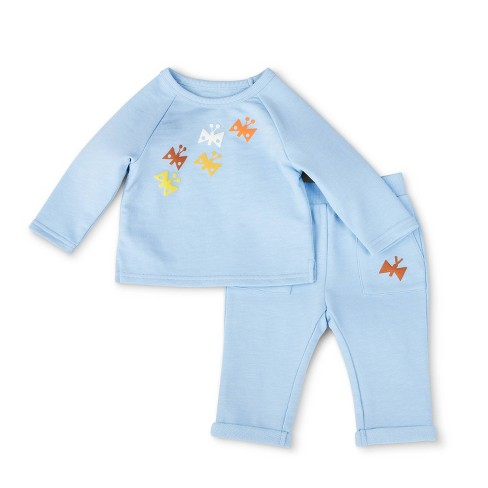 Baby Butterfly Print Top & Bottom Set - Christian Robinson x Target Blue  - image 1 of 4