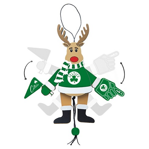 Topperscot by Boelter Brands NBA® Team Wooden Cheering Reindeer Ornament - image 1 of 1