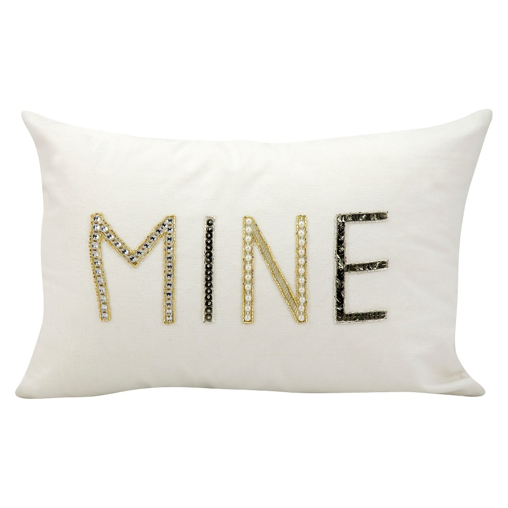 "Image of ""Mine Throw Pillow (12""""x18"""") - Nourison"""