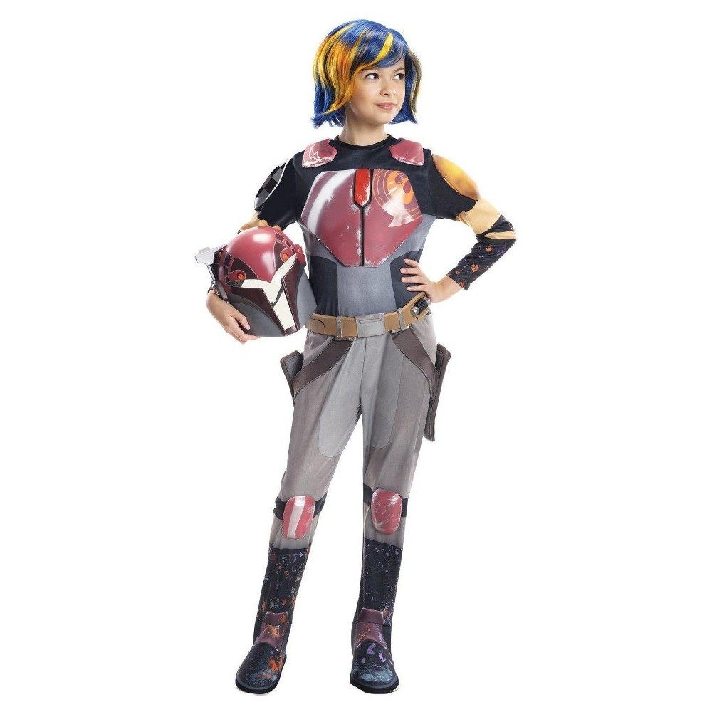 Image of Halloween Star Wars Rebels Sabine Deluxe Girls' Costume Small (4-6), Girl's, Size: Small(4-6), Silver