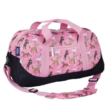 Horses in Pink Overnighter Duffel Bag