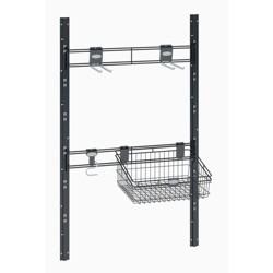 Suncast BMSA6B Hooks and Basket Sierra or Everett Shed Tool Accessory Kit, Black