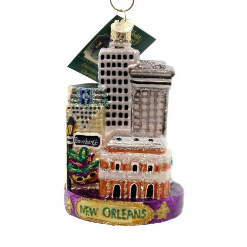 New Orleans Christmas Ornaments.Old World Christmas 4 5 New Orleans Ornament Mardi Gras French