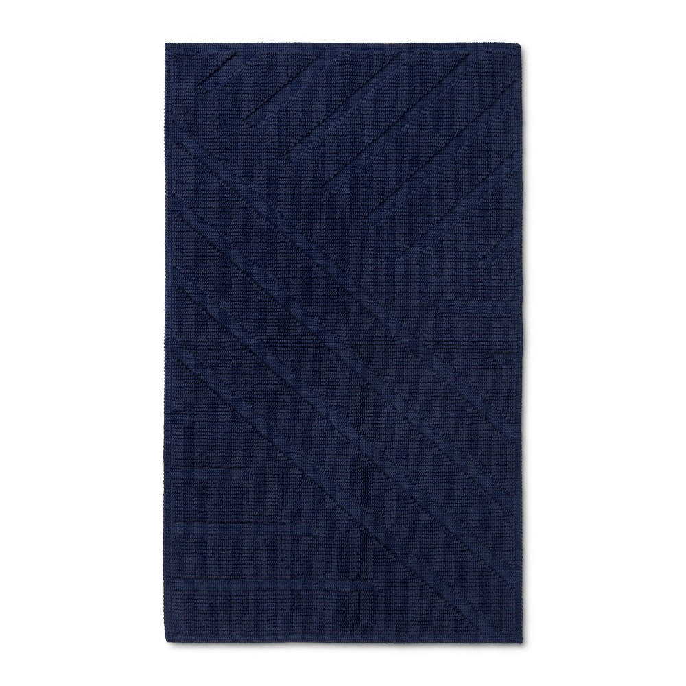 "Image of ""34""""x20"""" Woven Bath Mat Navy - Project 62 + Nate Berkus , Size: 34""""x20"""", Oxford Blue"""