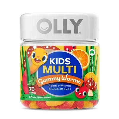 OLLY Kids Multivitamin Gummy Worms - 70ct