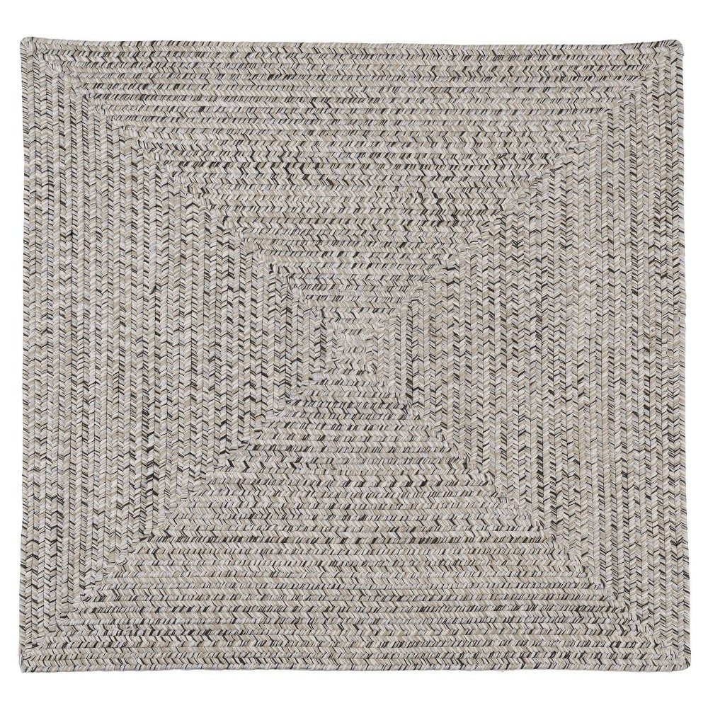 Forest Tweed Braided Square Area Rug Gray
