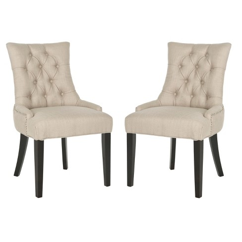 Set of 2 Ashley Dining Chair Wood - Safavieh - image 1 of 5