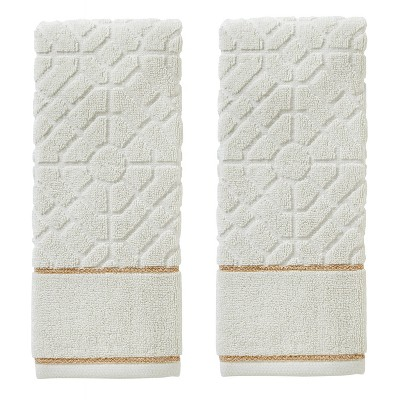 2pc Vern Yip Bamboo Lattice Hand Towel Set Natural - SKL Home