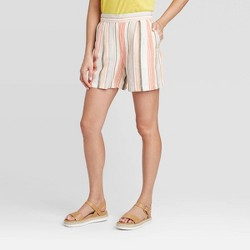 Women's Mid-Rise Linen Pull-On Shorts - A New Day™