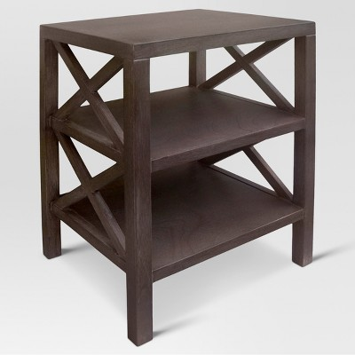 Owings End Table With 2 Shelves Rustic   Threshold™ : Target
