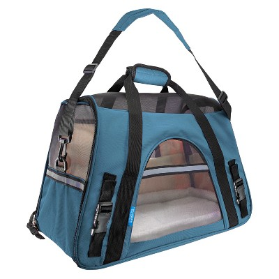 Paws & Pals Soft-Sided Pet Carrier - Mineral Blue - Small