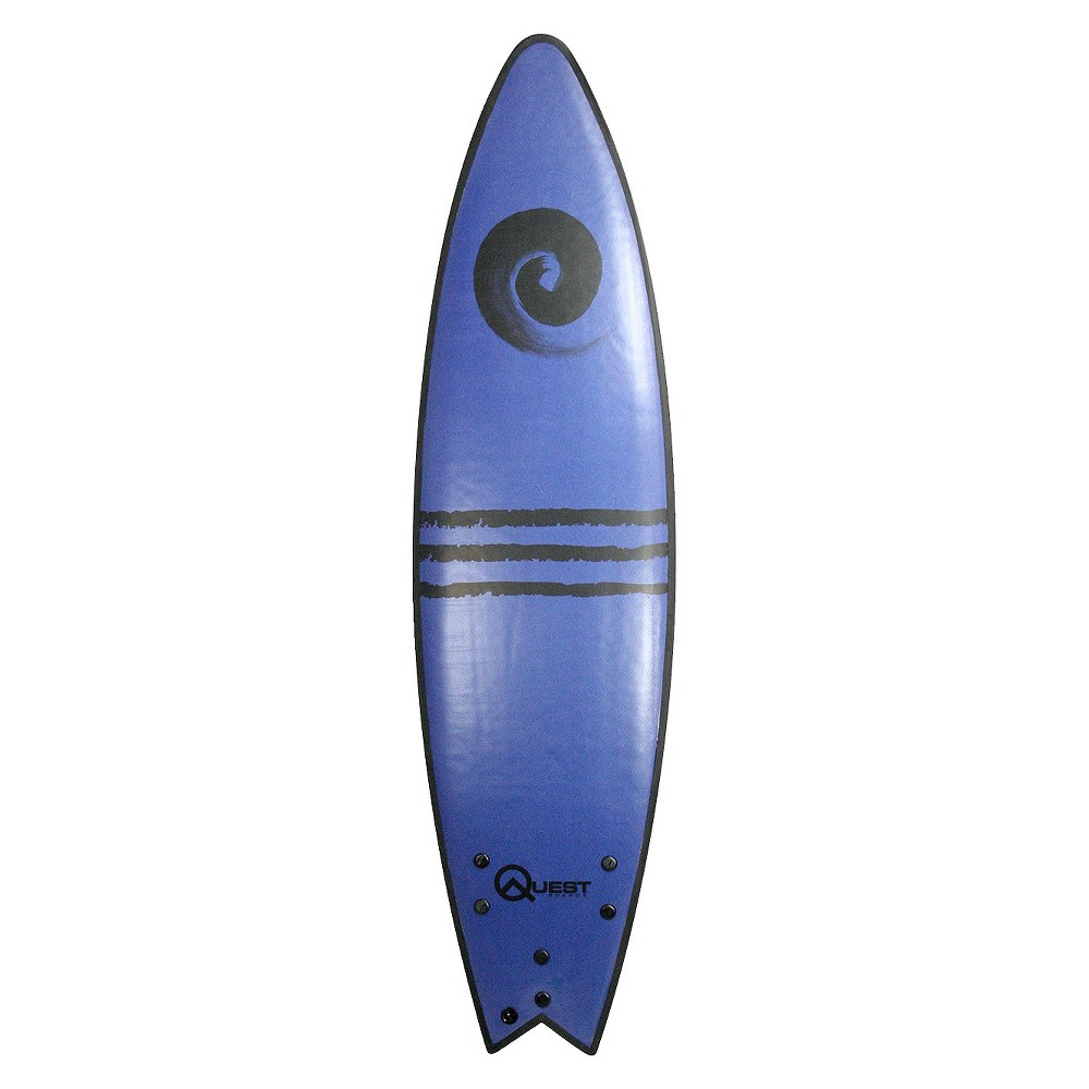 Quest High Performance Soft-Top Surfboard - Blue (7'), Multi-Colored