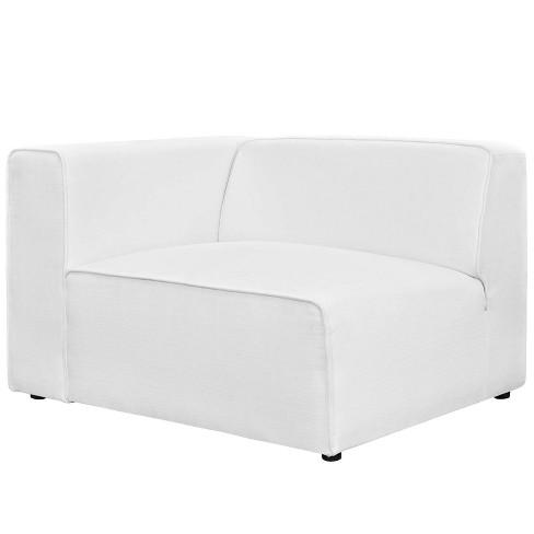 Miraculous Mingle Fabric Left Facing Sofa White Modway Uwap Interior Chair Design Uwaporg