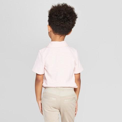 0530f412 Toddler Boys' Short Sleeve Slub Jersey Polo Shirt - Cat & Jack™ Pink ...