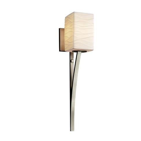 """Justice Design Group POR-8791-15-WAVE-LED1-700 Limoges 4.5"""" Sabre 1 Light LED Wall Sconce - image 1 of 2"""