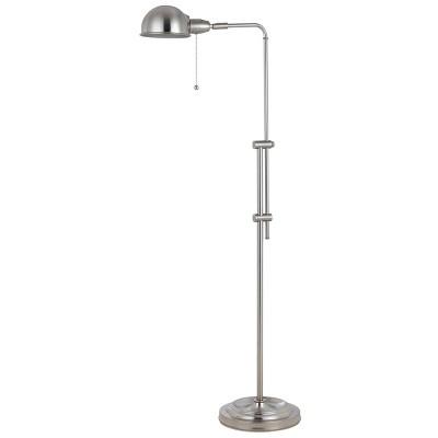 "42"" x 58"" Adjustable Height Croby Metal Floor Lamp Brushed Steel - Cal Lighting"