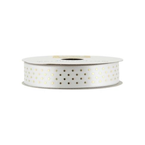 1713288d302 Offray Metallic Pin Dot Ribbon- 5/8