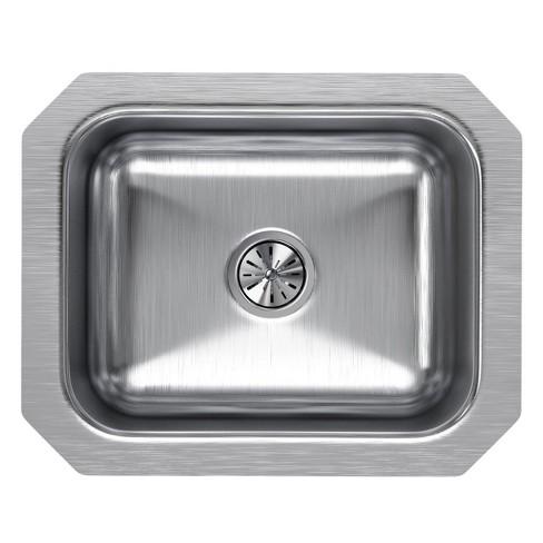 Elkay Kitchen Sinks | Elkay Eluh129 Lustertone 14 1 2 X 11 3 4 Single Basin Undermount Kitchen Sink