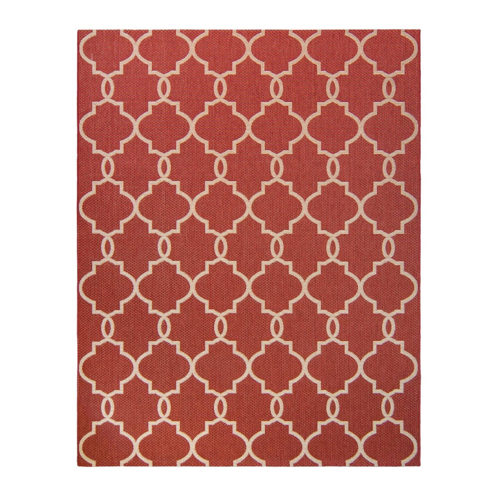 Image of 5'x7' Loire Outdoor Rug Red - Studio by Brown Jordan
