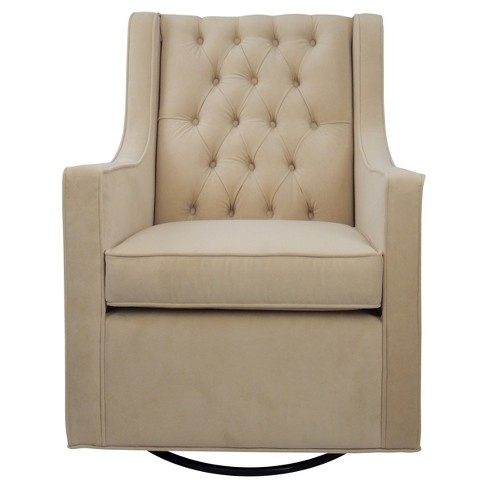 Ava Upholstered Glider Chair - Beige - image 1 of 3