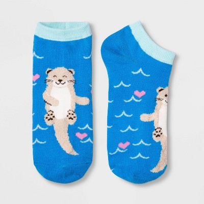 Women's Otter Low Cut Socks - Xhilaration™ Blue 4-10