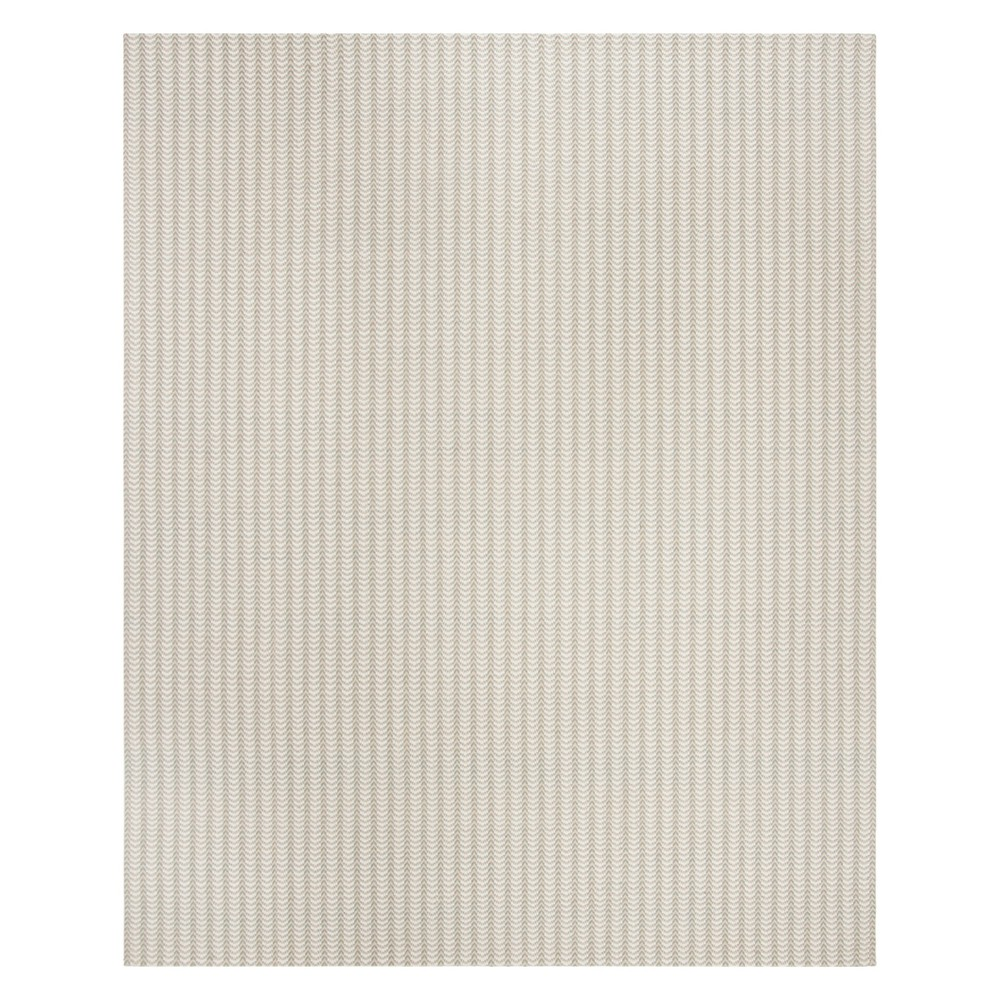 8'X10' Solid Hooked Area Rug Gray/Ivory - Safavieh
