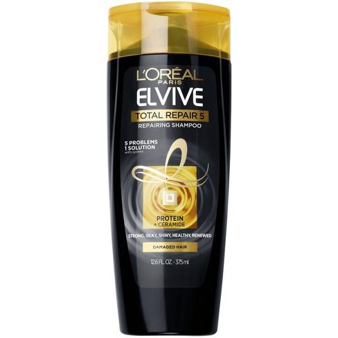 L'Oral Paris Elvive Total Repair 5 Repairing Shampoo - 12.6 fl oz - image 1 of 4